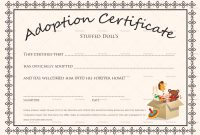 Toy Adoption Certificate Template 2