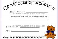 Toy Adoption Certificate Template 3
