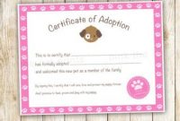 Toy Adoption Certificate Template 7