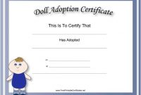 Toy Adoption Certificate Template 8