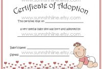 Toy Adoption Certificate Template 9