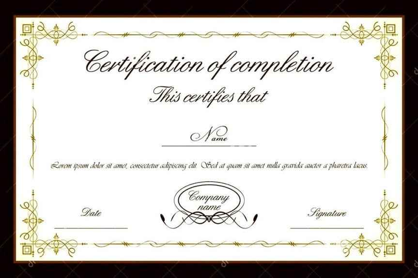 Free Editable Certificate Templates For Word