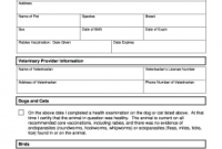 Veterinary Health Certificate Template 9