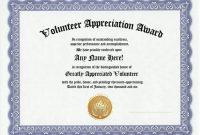 Volunteer Award Certificate Template 1