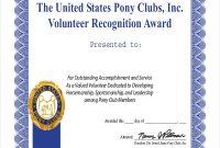Volunteer Award Certificate Template 3