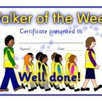 Walking Certificate Templates