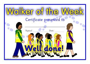 Walking Certificate Templates 7