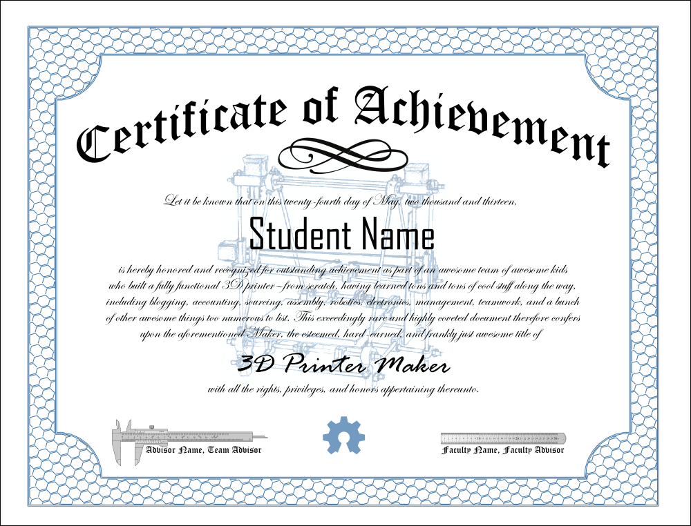 Word Template Certificate Of Achievement 11