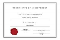 Word Template Certificate Of Achievement 3