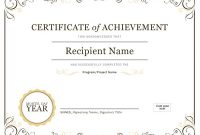 Word Template Certificate Of Achievement 4