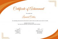 Word Template Certificate Of Achievement 5