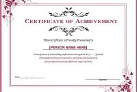 Word Template Certificate Of Achievement 6