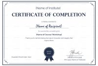 Academic Award Certificate Template Unique Completion Certificate Dalep Midnightpig Co