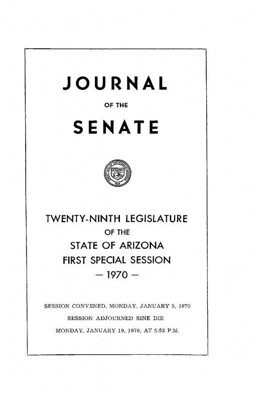 Army Certificate Of Completion Template Awesome Journal Of the Senate State Of Arizona 1970 Twenty Ninth