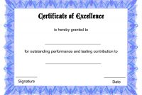 Award Certificate Border Template Unique Blank Certificate Templates Of Excellence Kiddo Shelter
