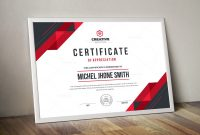 Award Certificate Design Template New Stylish Premium Certificate