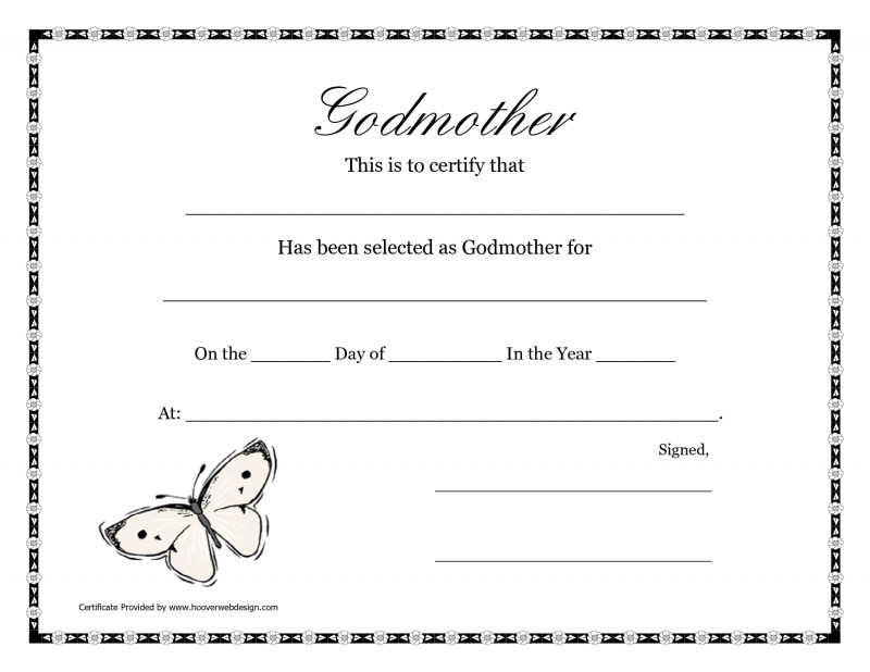 Baby Christening Certificate Template Awesome Free Printable Godparent Certificates Printable Godmother