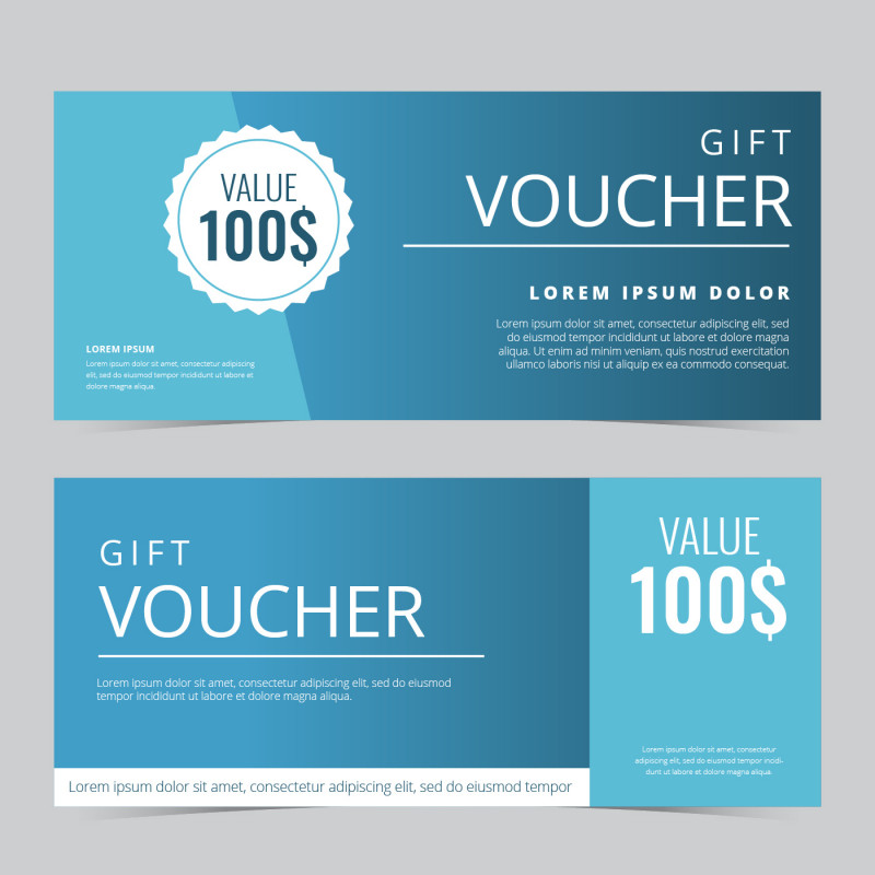 Black and White Gift Certificate Template Free Awesome Gift Voucher Coupon Vector Template Download Free Vectors