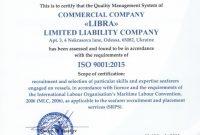 Certificate Of Conformance Template New Libra Licenses Certificates Libra