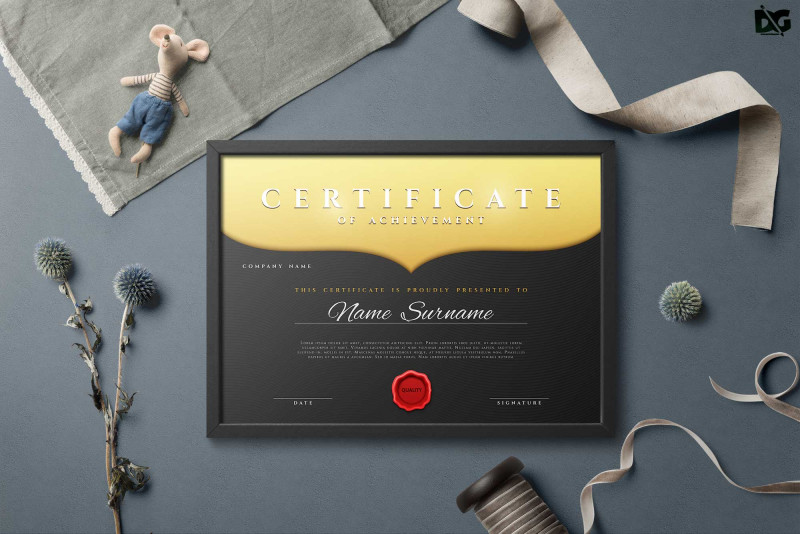 Certificate Of Excellence Template Free Download Awesome Free Download Achievement Certificate Eps Template Free