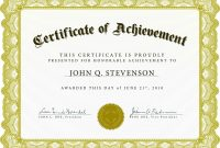 Certificate Of Excellence Template Word Unique Free Printable Certificate Of Achievement Falep Midnightpig Co