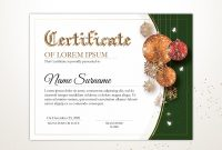 Certificate Of Marriage Template Awesome Editable Holiday Certificate Template Printable Christmas
