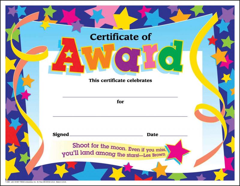 Certificate Of Participation Template Doc Unique Kids Award Certificate Template Falep Midnightpig Co