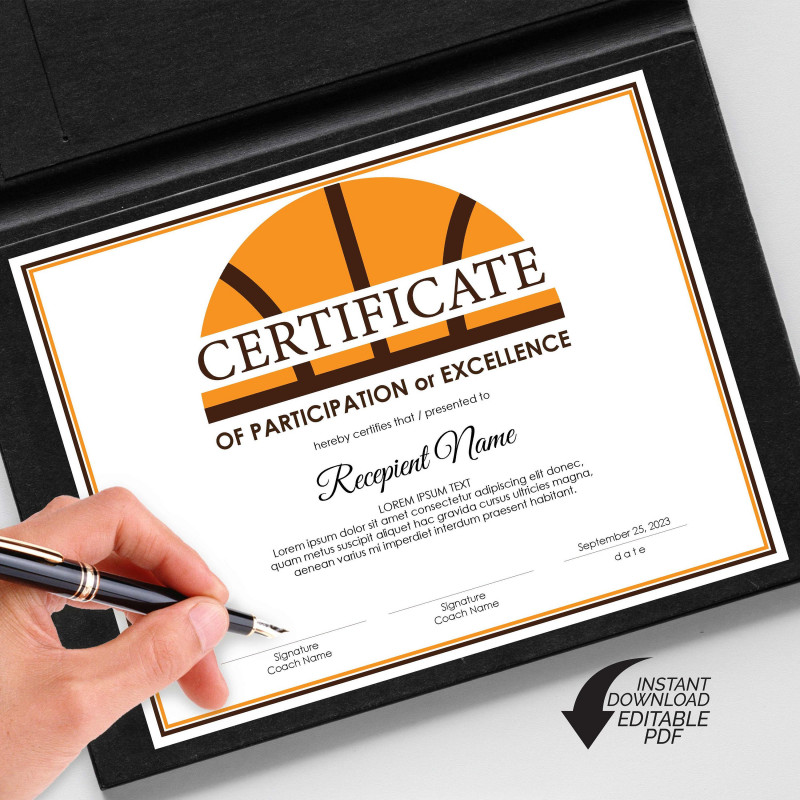 Certificate Of Participation Template Pdf Awesome 330 Best Editable Certificates Awards Images In 2020