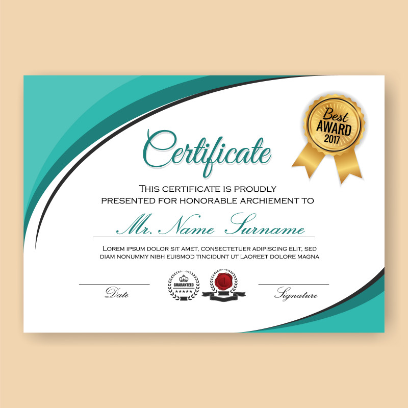 Certificate Of Participation Template Word Unique Certificate Border Free Vector Art 14434 Free Downloads