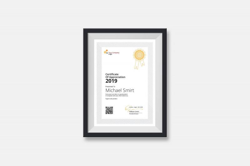 Certificate Template Size Unique Clean Certificates Fontscorporatefeaturesproduct