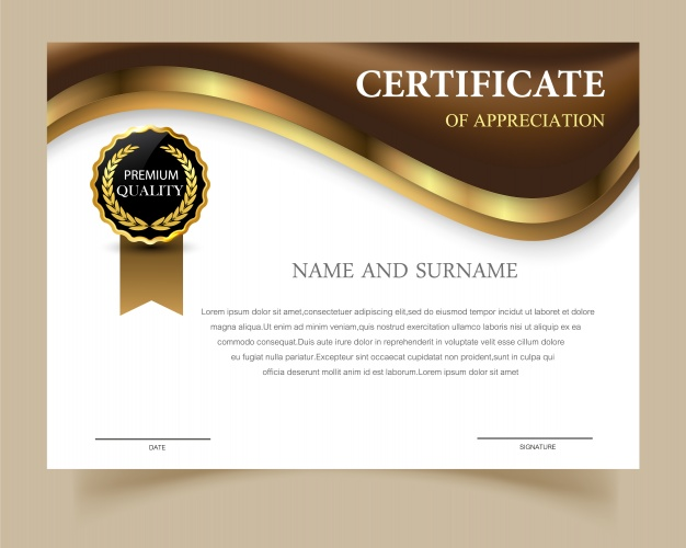 Certificate Template With Elegant Design 1102 253