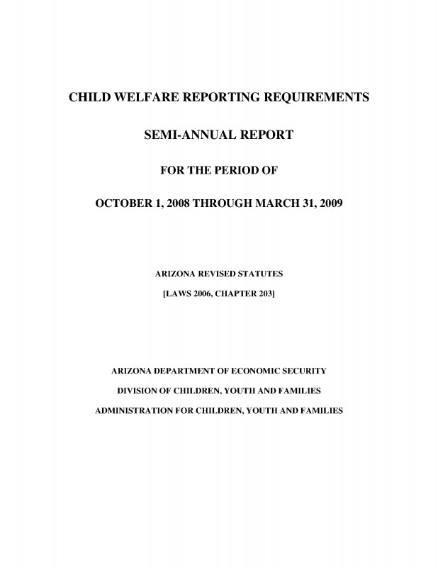 Child Adoption Certificate Template New Child Welfare Reporting Requirements Semi Annual Report