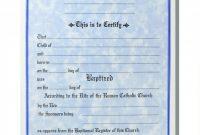 Christian Baptism Certificate Template Unique Baptism Certificate Template Word Heartwork Me