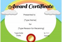 Classroom Certificates Templates New Free Certificate Template for Kids Falep Midnightpig Co