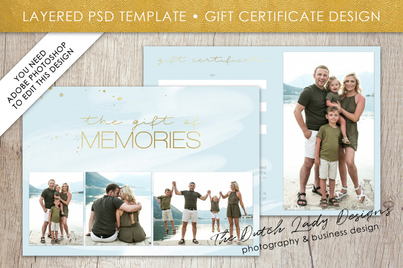 Company Gift Certificate Template Unique Photography Gift Certificate Template Photo Gift Card Watercolor Style Layered Psd Files Design 38