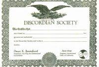 Corporate Bond Certificate Template Unique Gg Discordian Certificate Jpeg Grafik 3181 A— 2302
