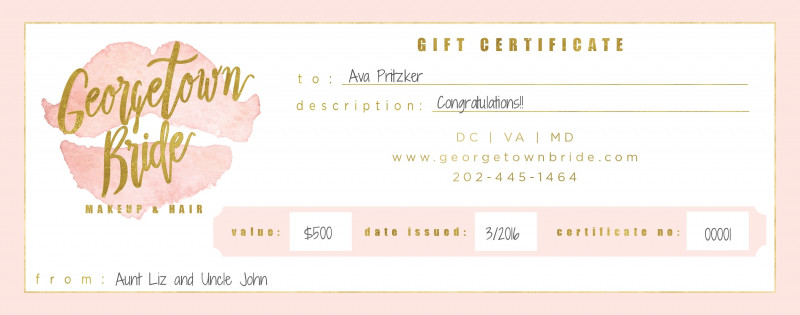 Custom Gift Certificate Template Awesome Makeup Gift Certificate Saubhaya Makeup