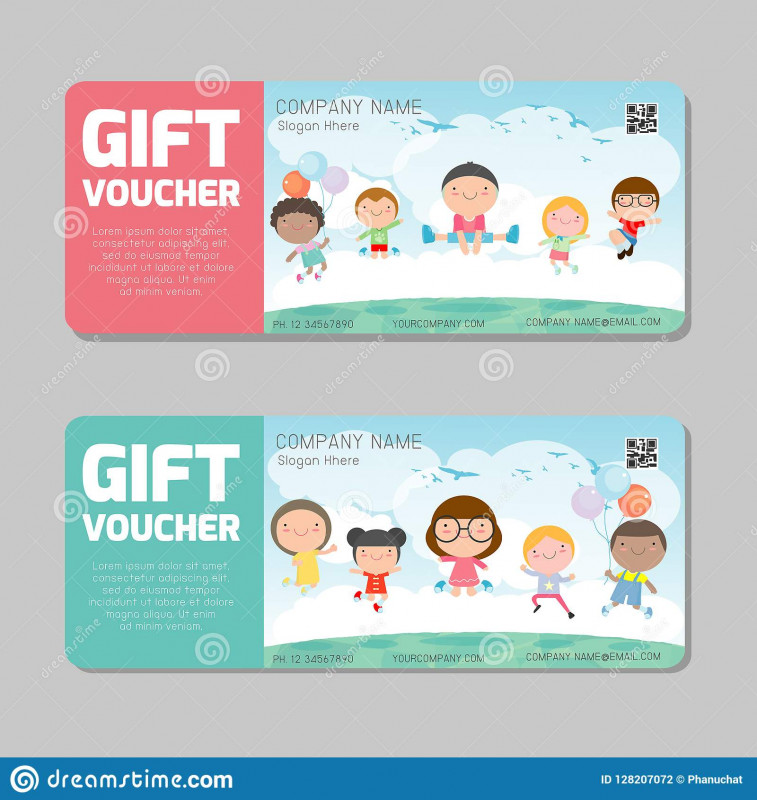 Free Travel Gift Certificate Template Unique Gift Voucher Template And Modern Pattern Kids Concept