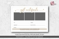 Gift Certificate Template Photoshop Awesome Photography Studio Gift Certificate Template