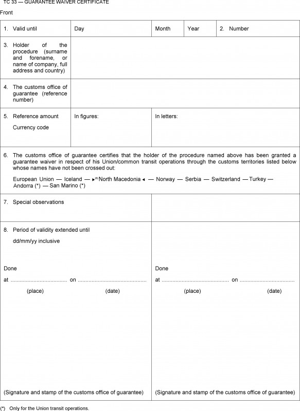 Officer Promotion Certificate Template New Commission Implementing Regulation Eu 2015 2447 Of 24