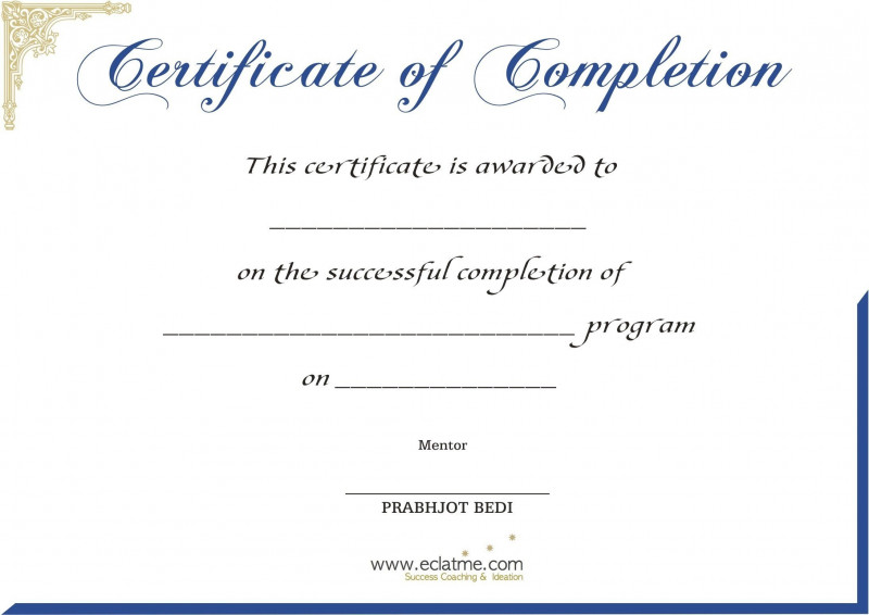 Perfect Attendance Certificate Template Unique Blank Certificate Templates Without Borders Image