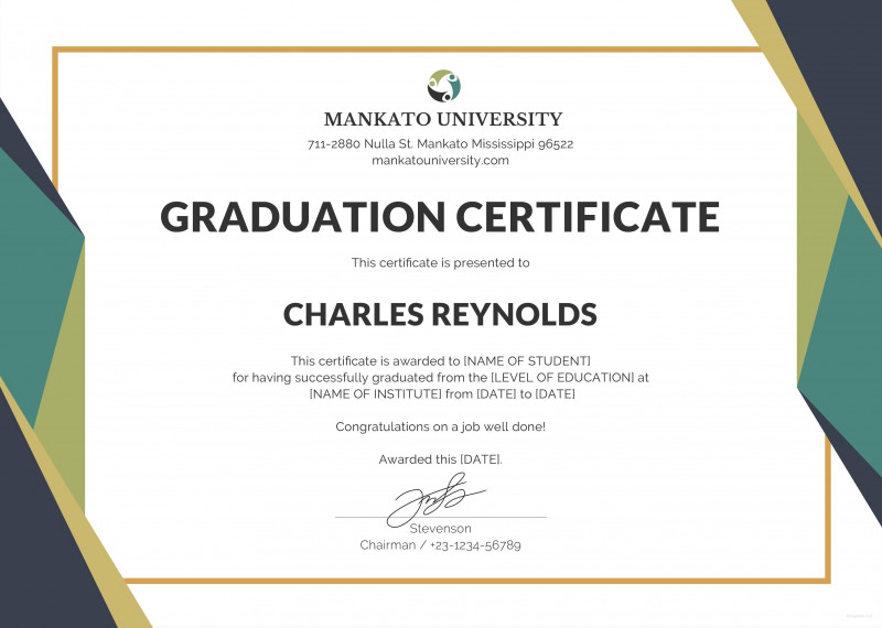 Professional Award Certificate Template Awesome Template Certificate Of Graduation Fresh Certificate