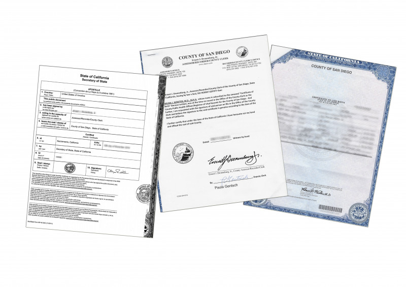 Recognition Of Service Certificate Template New Complete Apostille Of A Live Birth Certificate County Of
