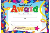 Sample Certificate Of Participation Template Unique Kids Award Certificate Template Falep Midnightpig Co