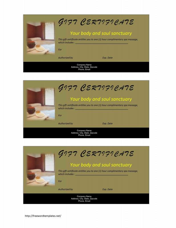 Scholarship Certificate Template Word Unique Valentine Massage Gift Certificate Template Gift