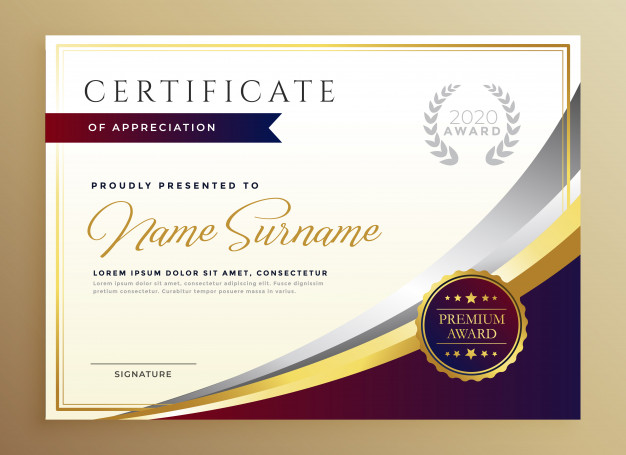 Stylish Certificate Template Design Golden Theme 1017 14691