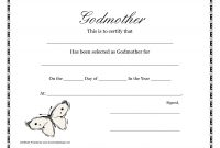 Template for Certificate Of Award Unique Free Printable Godparent Certificates Printable Godmother