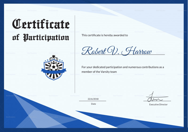 Tennis Certificate Template Free Unique Free Football Certificate Templates Dalep Midnightpig Co