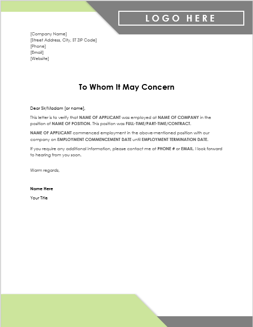 Certificate Of Experience Template 0
