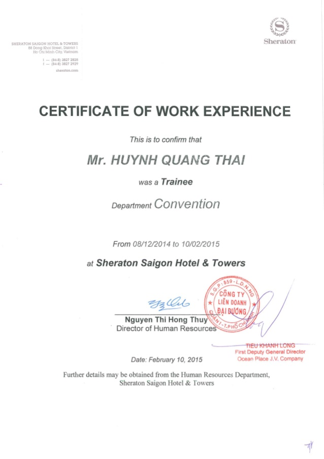 Certificate Of Experience Template 5